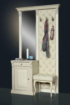 Вешалка с зеркалом Б5.10-7 карамель 2