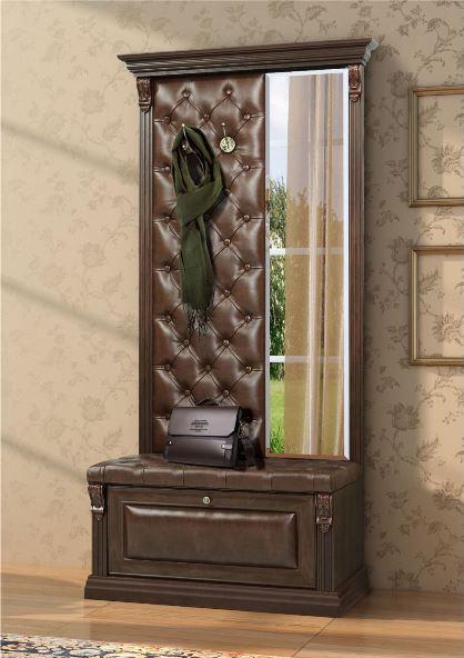 Вешалка с обувницей и узким зеркалом Б5.8-4 1