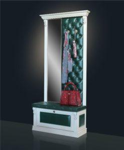 Вешалка с обувницей и узким зеркалом Б5.8-4 карамель 1