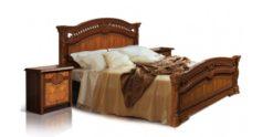 Кровать Карина-2 (1 спинка) матовое орех 1