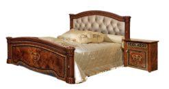 Кровать Карина-3 (2 спинки) орех с мягкой спинкой 1