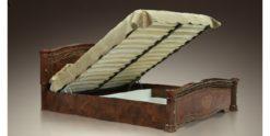 Кровать Карина-3 (1 спинка) беж с мягк.сп. подъемная 2