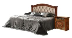 Кровать Карина-3 (1 спинка) орех с мягкой спинкой 1