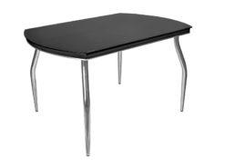 Стол обеденный Рекорд-26 стекло + хром 1