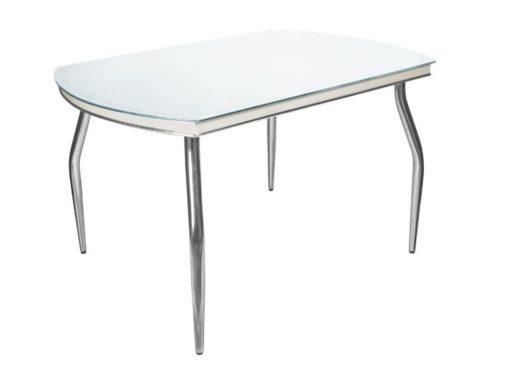 Стол обеденный Рекорд-26 стекло + хром 2