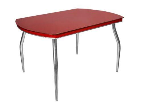 Стол обеденный Рекорд-26 стекло + хром 3