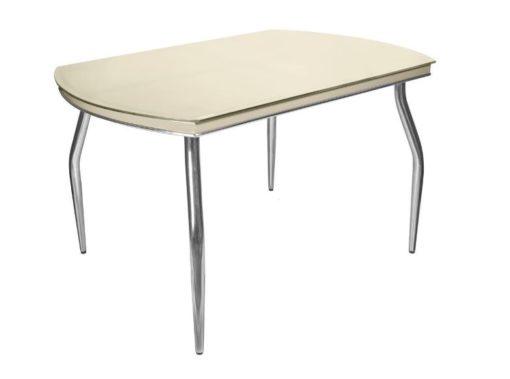 Стол обеденный Рекорд-26 стекло + хром 4