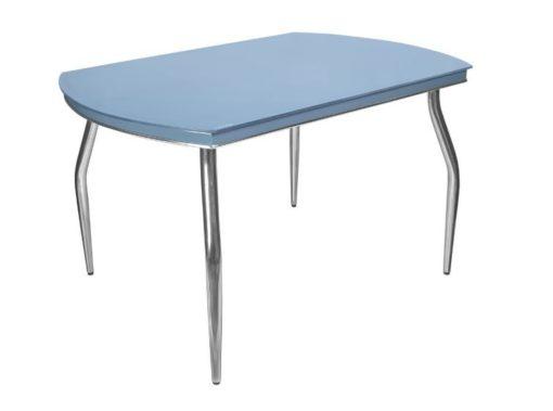 Стол обеденный Рекорд-26 стекло + хром 6