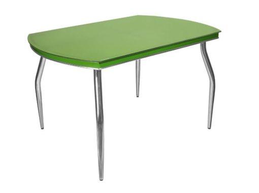 Стол обеденный Рекорд-26 стекло + хром 7