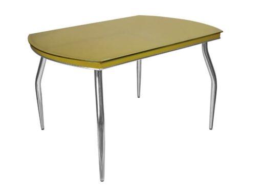 Стол обеденный Рекорд-26 стекло + хром 9