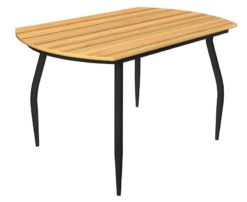 Стол обеденный Рекорд-26 ДСП лайт + цветные ножки 1
