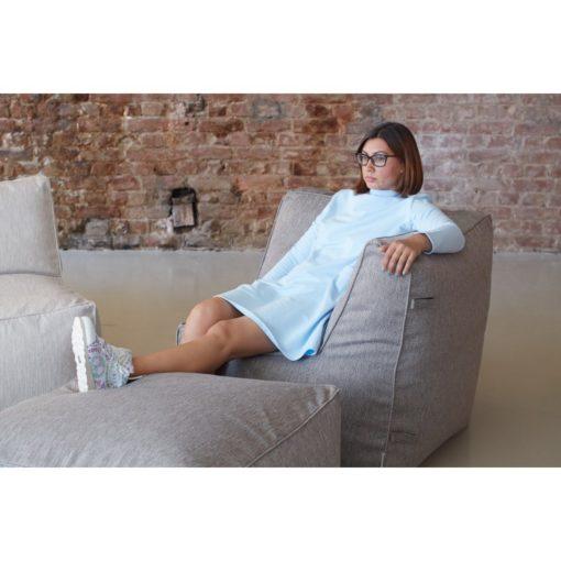 Бескаркасный модульный диван с двумя угловыми модулямиБескаркасный модульный диван с двумя угловыми модулями