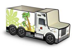 Грузовичок для игрушек с мультяшками 1