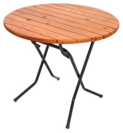 Складной стол реечный Круглый-70 (18 РС КНР ) 1
