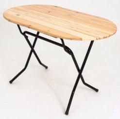 Складной стол реечный Овальный-126 (18 РС ОНР) 1