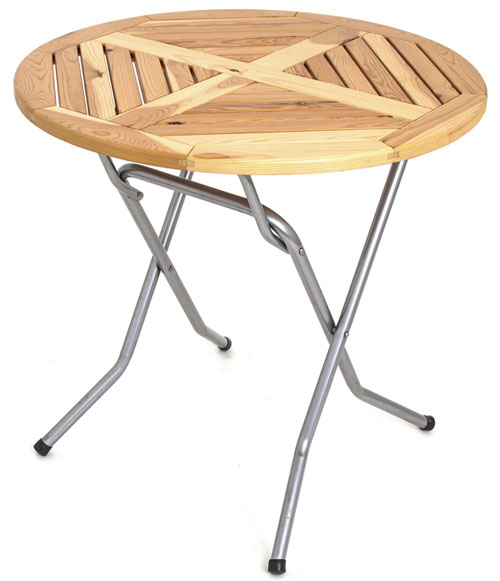Складной стол реечный Сиеста круглый-80 (25 РСО КНР) 1