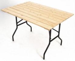 Складной стол реечный Прямоугольный-127 (25 РС ПНР) 1