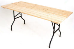 Складной стол реечный Прямоугольный-157 (25 РС ПНД) 1