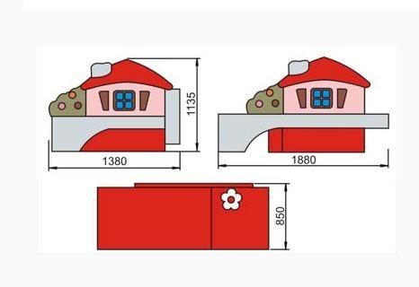 Детский диван Домик 2