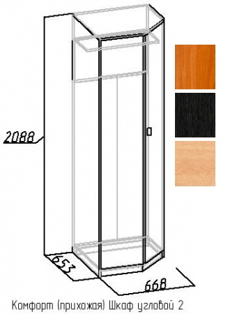 Шкаф угловой-2 Комфорт 1