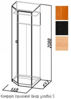 Шкаф угловой-5 Комфорт 1