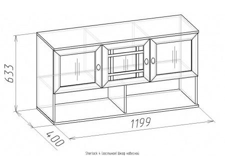 Шкаф навесной Sherlock-4 2
