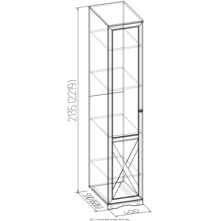Шкаф для белья Adele-7 1