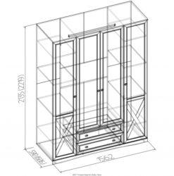 Шкаф для одежды и белья Adele-9 3