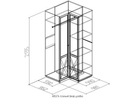 Шкаф угловой Adele-14 3