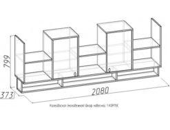 Шкаф навесной-1 Калейдоскоп 5