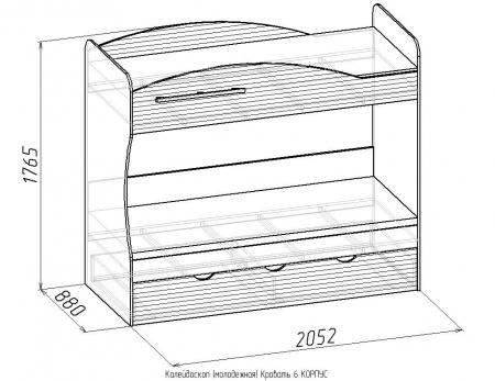 Кровать-6 Калейдоскоп 3