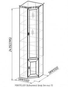 Шкаф для книг 10 Montpellier 2