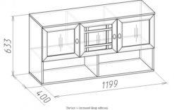 Шкаф навесной-4 Sherlock дуб 2