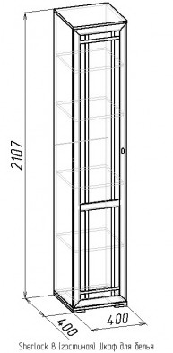 Шкаф для белья-8 Sherlock дуб 2