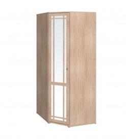 Шкаф угловой-10 с зеркалом Sherlock дуб 1