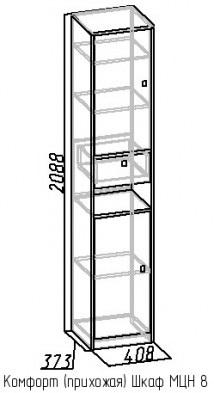 Шкаф МЦН 8 Комфорт дуб сонома 2