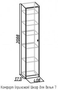 Шкаф для белья 7 Комфорт дуб сонома 2