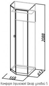 Шкаф угловой 5 Комфорт дуб сонома 2