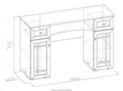 Стол туалетный-52 Sherlock 2