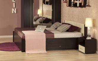 Кровать без основания Berlin 140/160/180 венге 1