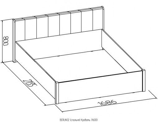 Кровать без основания Berlin 140/160/180 венге 3