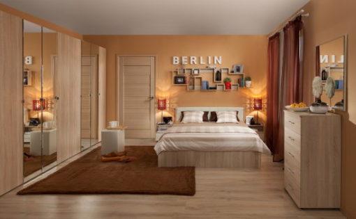 Модульная спальня Berlin дуб сонома 1