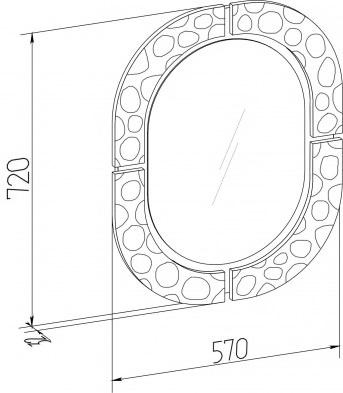 Зеркало навесное-20 WYSPAA 2