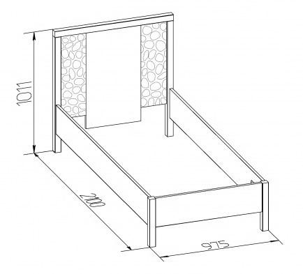 Кровать односпальная-1 WYSPAA  900/1200 2