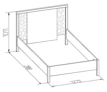 Кровать односпальная-1 WYSPAA  900/1200 3