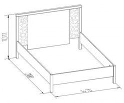 Кровать двуспальная-1 WYSPAA 1400/1600/1800 2