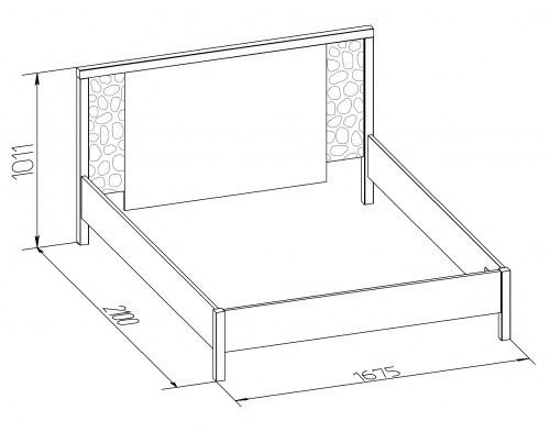 Кровать двуспальная-1 WYSPAA 1400/1600/1800 3