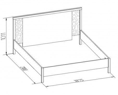 Кровать двуспальная-1 WYSPAA 1400/1600/1800 4