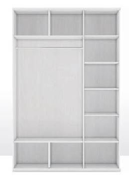 Шкаф 3-х дверный (корпус) Капри 1