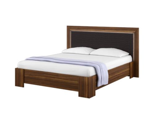 Кровать (1600) с МДФ спинкой Роксана 1
